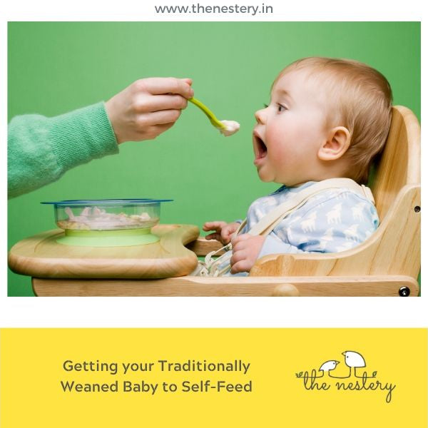 Traditional weaning – How can you ensure your baby self –feeds sooner?