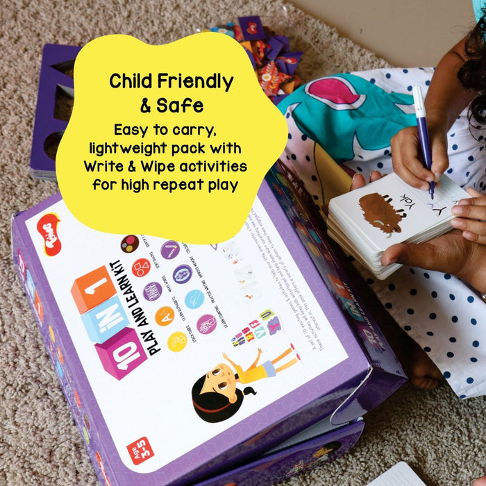 10-IN-1 PLAY AND LEARN KIT - 10 EDUCATIONAL GAMES & ACTIVITIES