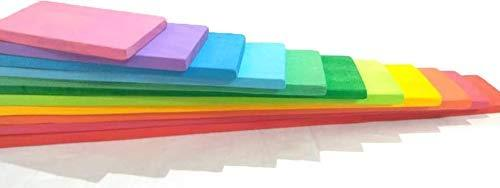 RAINBOW BUILDING BOARDS STACKER (COLOURED) - 12
