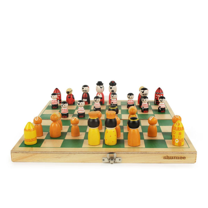 Pirates Vs Royals - Wooden Chess Set
