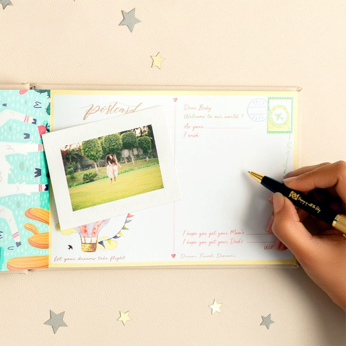 The Nestery : Keeping Up With Baby - You Mean The World To Us - Baby Visitor Book
