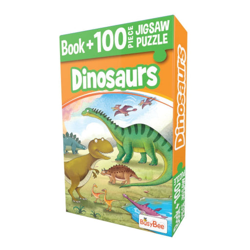 The Nestery: Pegasus - Book + 100 Pieces Jigsaw Puzzle - Dinosaur