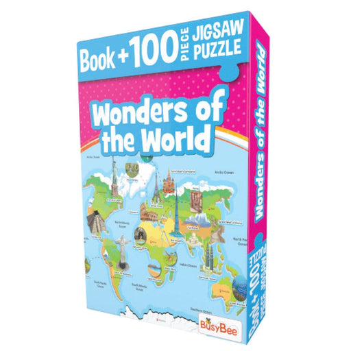 The Nestery: Pegasus - Book + 100 Pieces Jigsaw Puzzle - Wonders Of The World