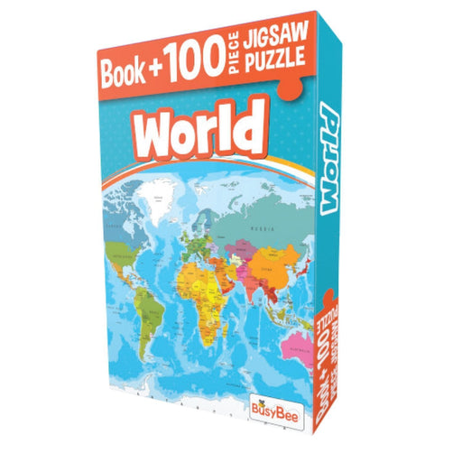 The Nestery: Pegasus - Book + 100 Pieces Jigsaw Puzzle - World Map
