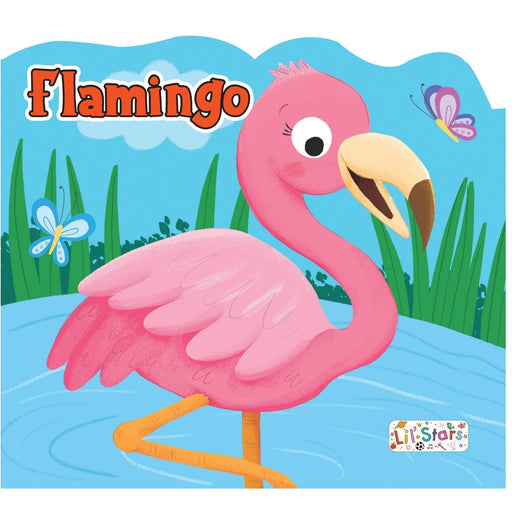The Nestery: Pegasus - Animals Shaped Board Books - Flamingo