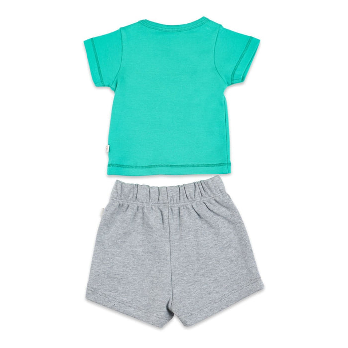 The Nestery : Greendigo - Tshirt And Shorts Set - A - B - C