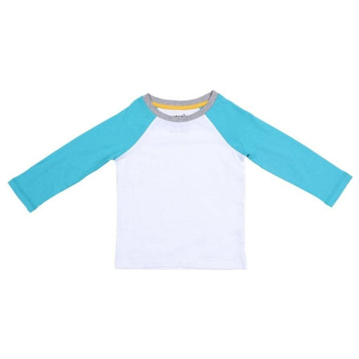 The Nestery : Greendigo - Long Sleeve Tshirt - Aqua