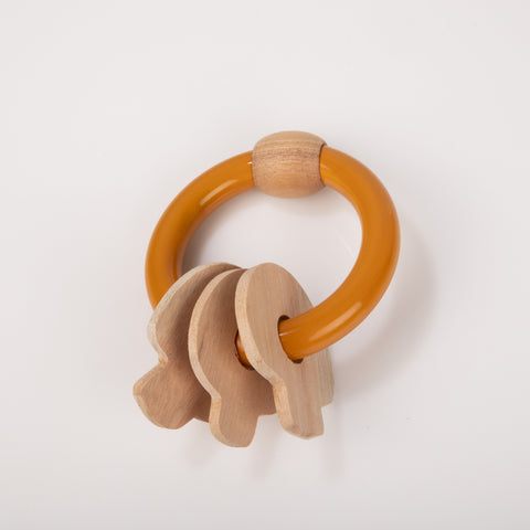 Ariro Mushroom Rattle Orange