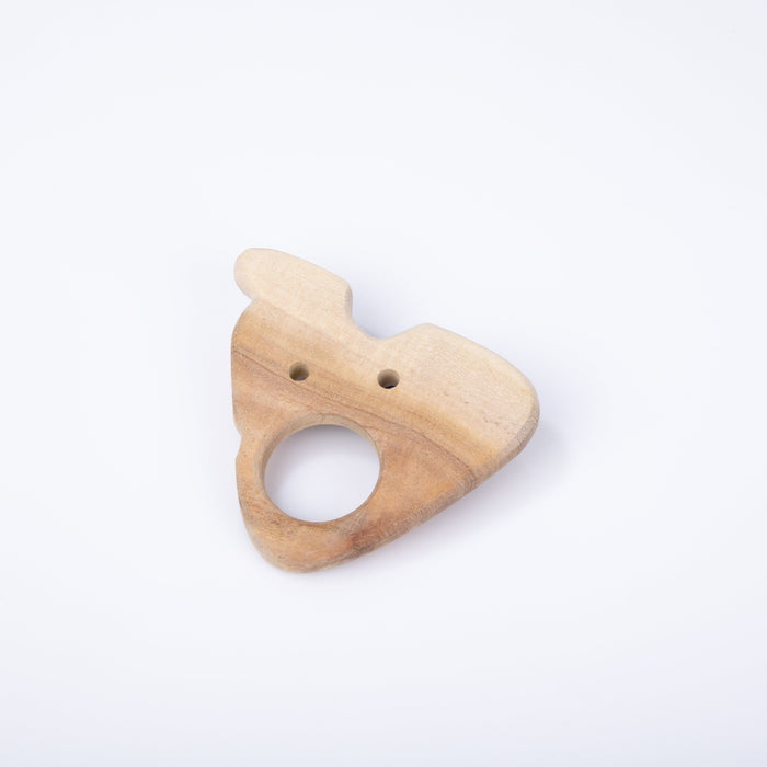 The Nestery: Montessori Toy - Ariro - Neem Wood Teether – Cheese