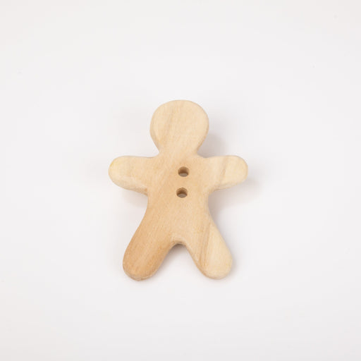 The Nestery: Montessori Toy - Ariro - Neem Wood Teether – Ginger Bread Man