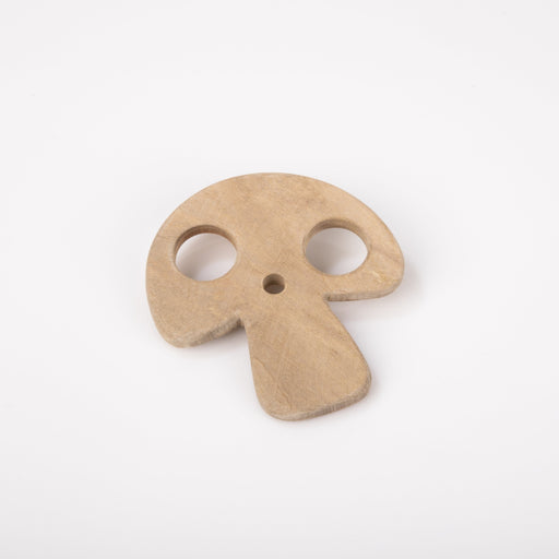 The Nestery: Montessori Toy - Ariro - Neem Wood Teether – Mushroom