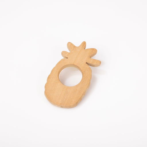 The Nestery: Montessori Toy - Ariro - Neem Wood Teether – Pineapple