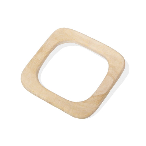The Nestery: Montessori Toy - Ariro - Neem Wood Teether – Square