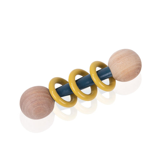 The Nestery: Montessori Toy - Ariro - Dumbbell Rattle – Yellow