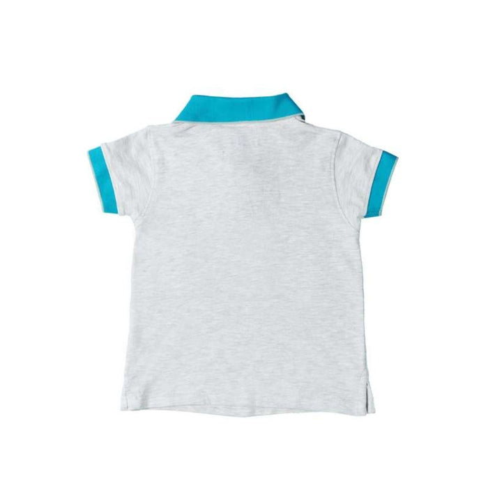 The Nestery : Greendigo - Polo Tshirt With Half Sleeves - Ash