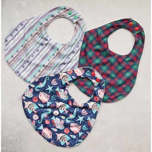 The Nestery: Bumpadum - Bibs - Pack Of 3 (Aztec, Highlander & Samudraa)