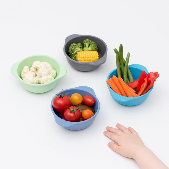 The Nestery: Bamboo Dinnerware - Set Of 4 Bamboo Kids Snack Bowls
