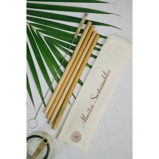 The Nestery : Almitra Sustainables - Bamboo Straws (Pack Of 4)