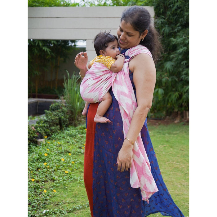 The Nestery: Cuddle N Care - Cherry Blossom Ikat (Ring Sling)