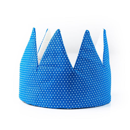 The Nestery : Bobtail - Crown - Blue & White Polka