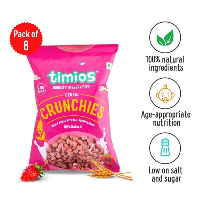 Crunchies Cereal Pouch - Pack Of 8