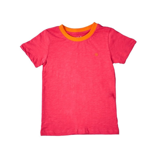 The Nestery : Greendigo - Playtime Tshirt With Half Sleeves - Coral