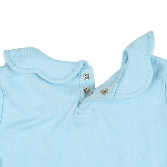 The Nestery : Greendigo - Collar Top - Crayon Scalloped