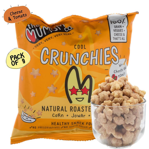 The Nestery :The Mumum Co. - Cool Crunchies - Cheese And Tomato - Pack Of 9 ( 20Gm X 9)