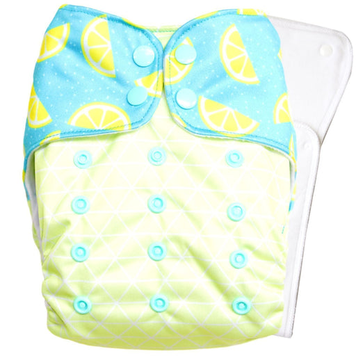 The Nestery : Bouncing Peaches - Reusable Cloth Diaper - Citrus Burst