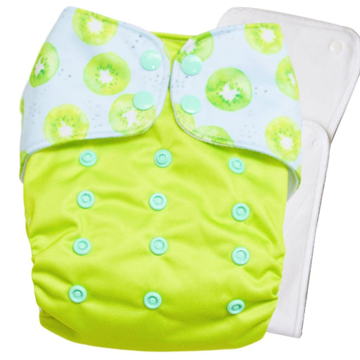 The Nestery : Bouncing Peaches - Reusable Cloth Diaper - Kiwi Crush