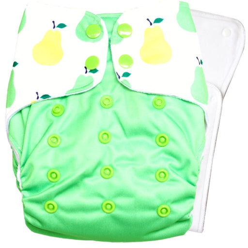 The Nestery : Bouncing Peaches - Reusable Cloth Diaper - Very Peary
