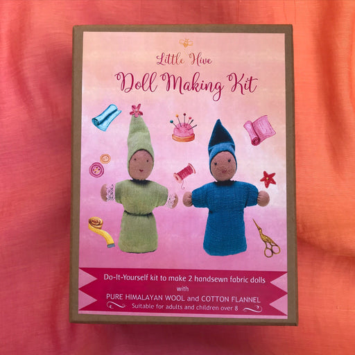 The Nestery presents, The Little Hive Doll Making kit. It's waldorf learning aid.