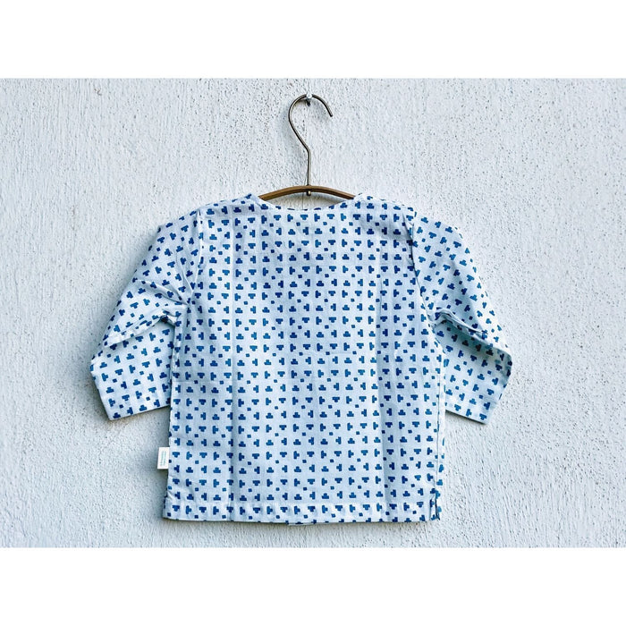The Nestery : Whitewater Kids - Kurta & Pyjama Set - Tee Blue Kurta + Blue Chambray Pyjama