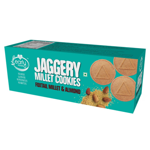 The Nestery : Early Foods - Cookies - Foxtail Almond And Jaggery - [150 Gms]