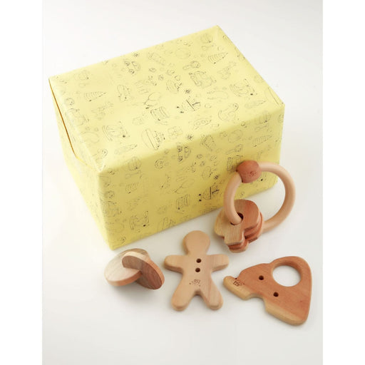 The Nestery: Montessori Toy - Ariro - Infant Gift Set - 6 (Teether, Rattle)