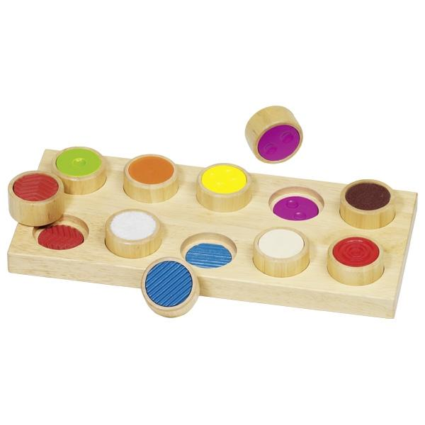 Goki Wooden Sensory feel a pair memory game