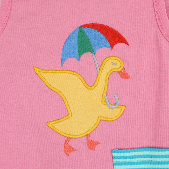 The Nestery : Greendigo - Reversible Dress 2-In-1 - Happy Duck