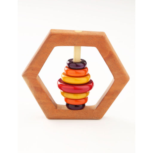 The Nestery: Montessori Toy - Ariro - Hexagon Rattle
