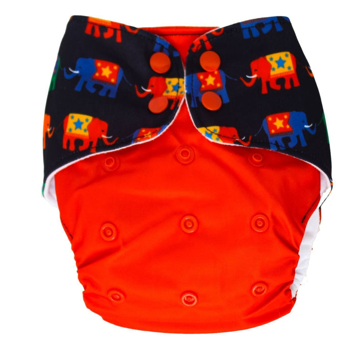 The Nestery : Bouncing Peaches - Reusable Cloth Diaper - Howdah
