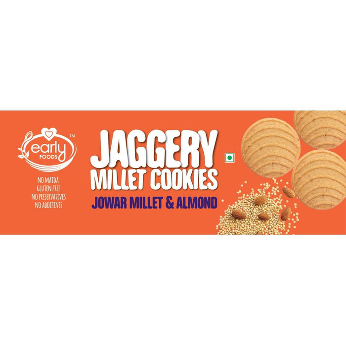 The Nestery : Early Foods - Cookies - Jowar Almond And Jaggery - [150 Gms]