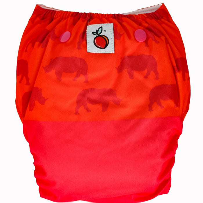 The Nestery : Bouncing Peaches - Reusable Cloth Diaper - Kaziranga