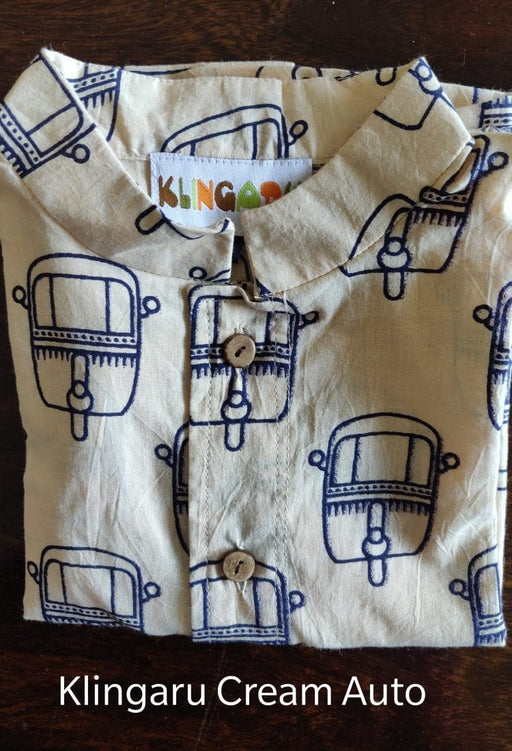 This is a kurta with auto motifs