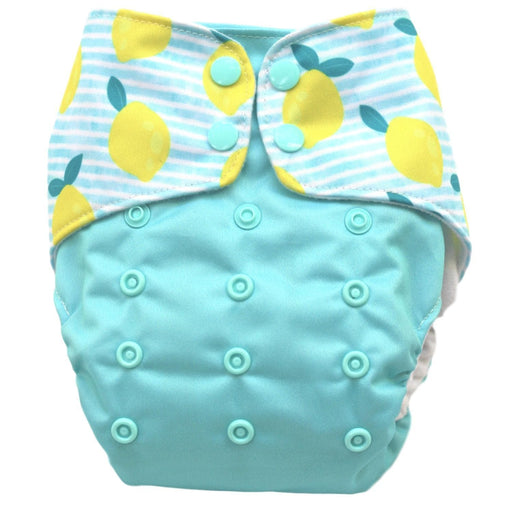 The Nestery : Bouncing Peaches - Reusable Cloth Diaper - Lemonade