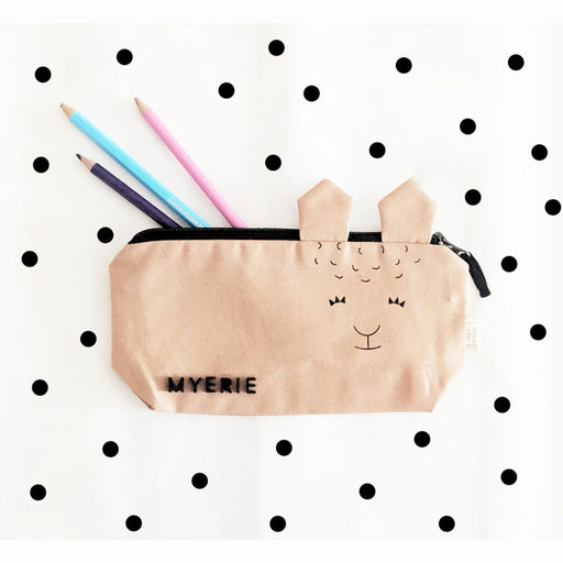 The Nestery : The Clever Fox - The Llama Pencil Pouch