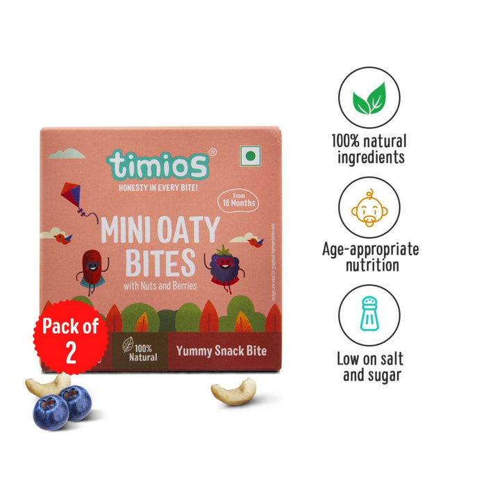 The Nestery : Timios Mini Oaty Bites -  Nuts and Berries