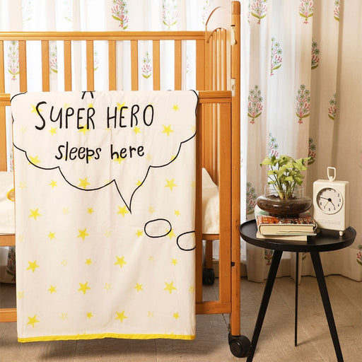 The Nestery : Masaya - Dohar : Super Baby Flies Over Town - Black Embroidery