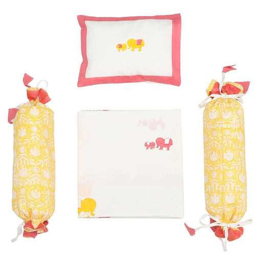 The Nestery : Masaya - Cot Bedding Set : Baby Elle - Pink