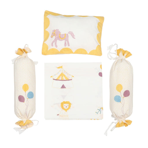 The Nestery : Masaya - Cot Bedding Set : I Am Going To The Circus - Yellow