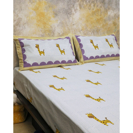 The Nestery : Masaya - Bedding Set : My Best Friend Gira The Giraffe - Blue