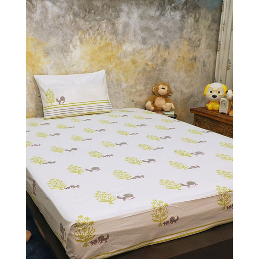The Nestery : Masaya - Bedding Set : The Adventures Of Mamma And Me - Grey
